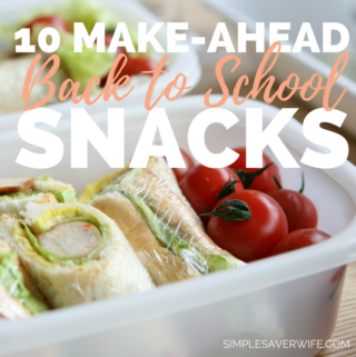 10 Make-Ahead Snacks for Back to School