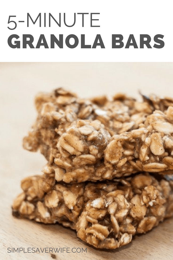 5-Minute Granola Bars
