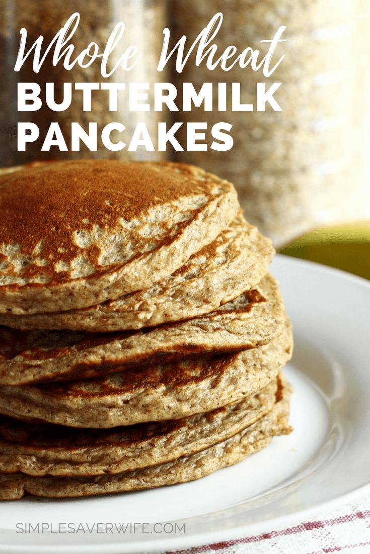 100% Whole Wheat Buttermilk Pancakes