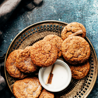 Soft Gingersnap Cookies (Whole Grain, Low Sugar)