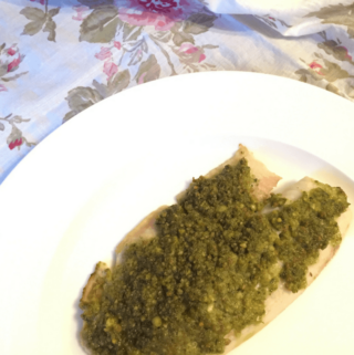 15-Minute Baked White Fish With Pesto