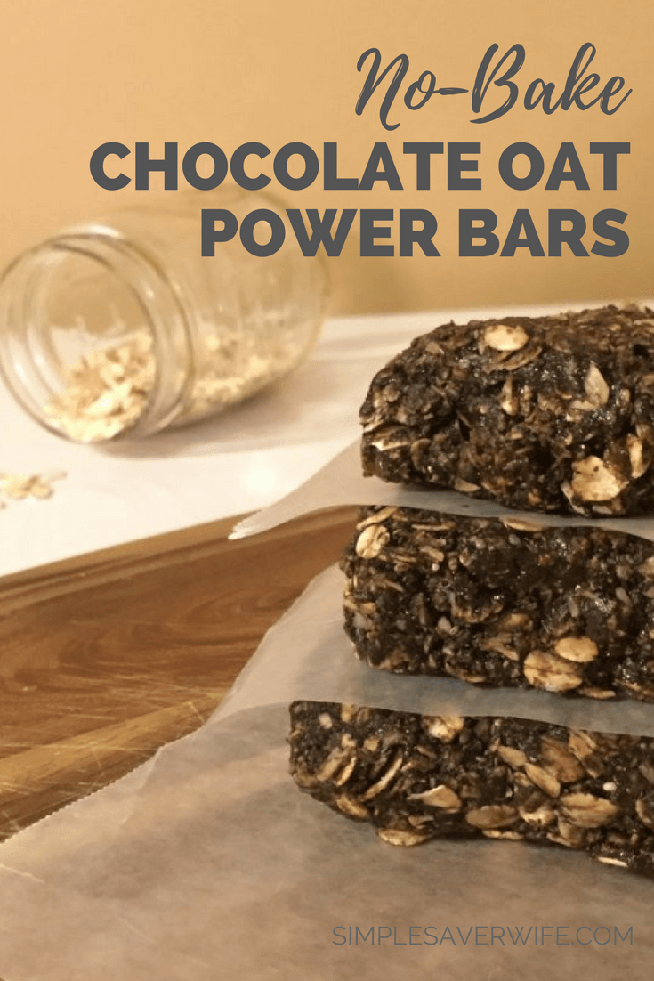 No-Bake Chocolate Oat Power Bars
