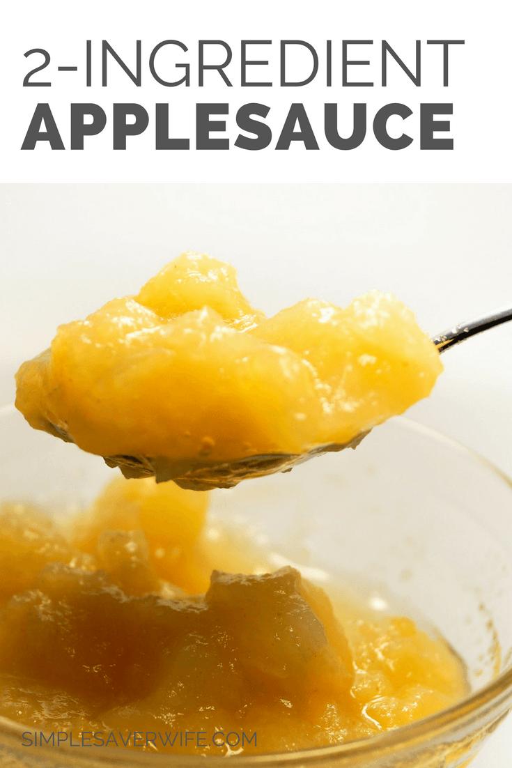 2-Ingredient Slow Cooker Applesauce