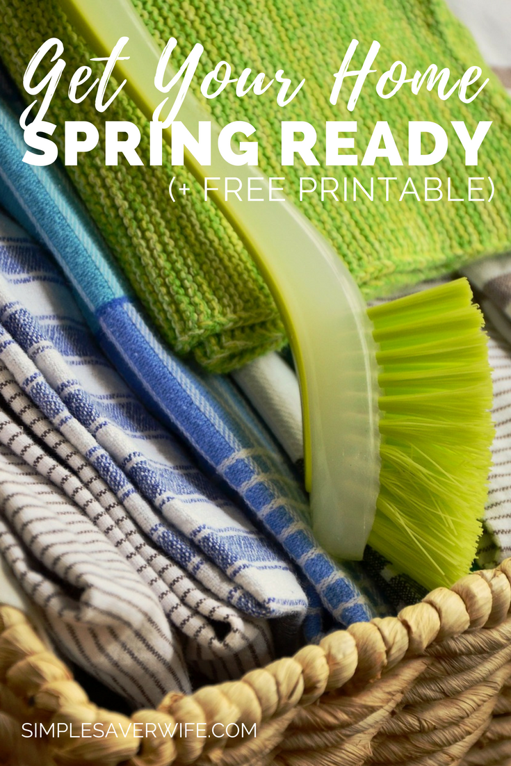 How to Get Your Home Spring Ready | spring cleaning | spring cleaning checklist | cleaning printable | how to spring clean