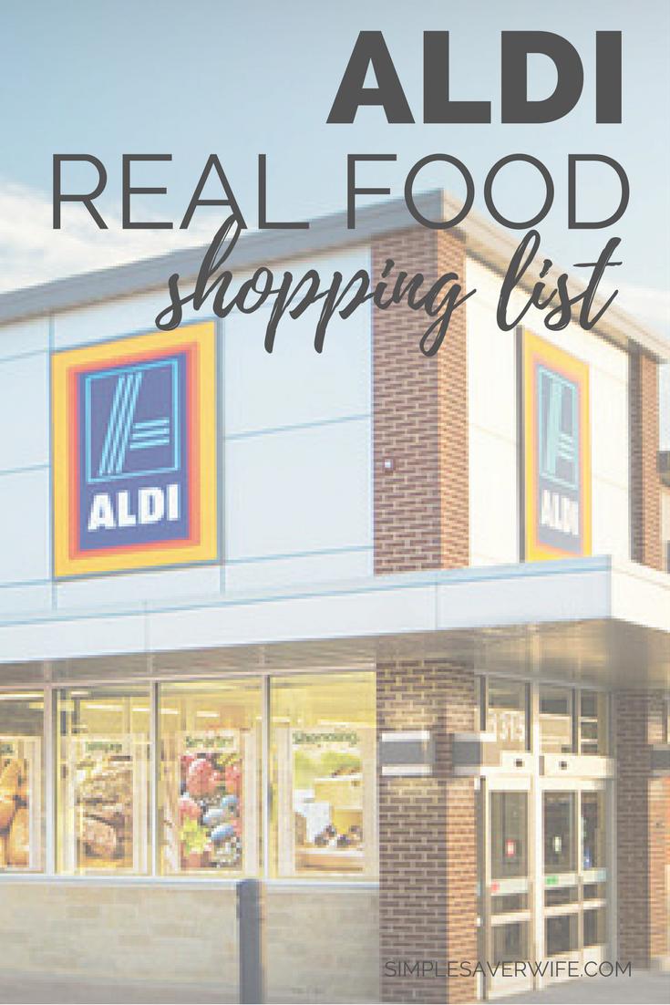 ALDI Real Food Shopping List