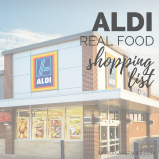 ALDI Real Food Shopping List