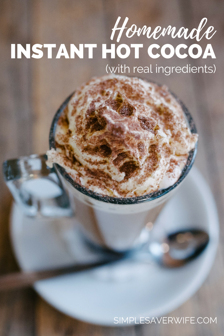 Homemade Instant Hot Cocoa (with Real Ingredients)