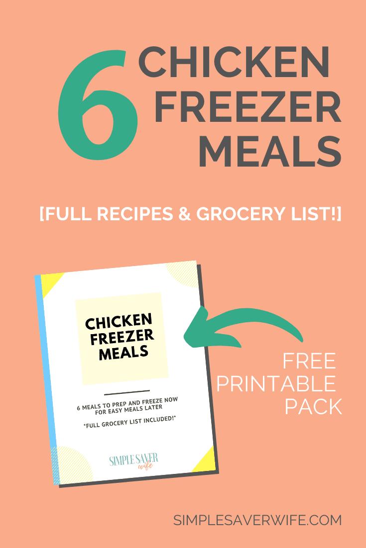 6 Chicken Freezer Meals | easy freezer meals | healthy freezer meals | freezer meal recipes with chicken | how to make freezer meals