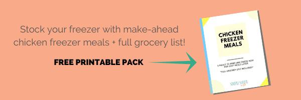 6 Chicken Freezer Meals | easy freezer meals | healthy freezer meals | how to make freezer meals