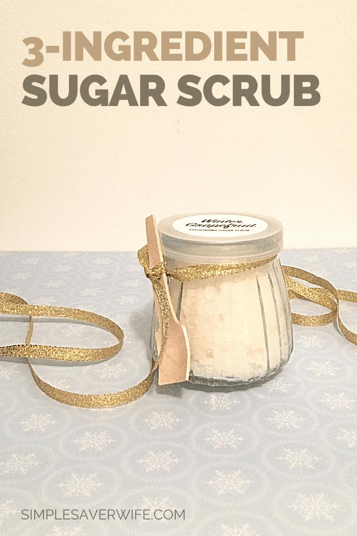 3-Ingredient Homemade Sugar Scrub